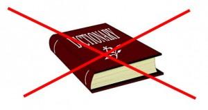 No dictionary