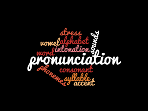 pronunciation-wordcloud
